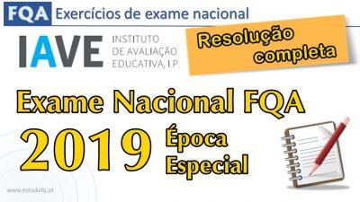 Exame FQ 2019 Época Especial