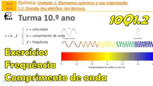 Relação entre a frequência e comprimento de onda | Radiação visível | Exercícios