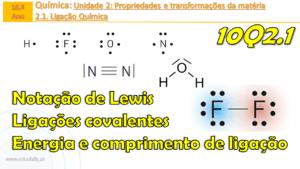 Notação de Lewis | Ligações covalentes | Energia e comprimento de ligação | Exercícios | 10Q2.1