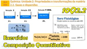 Exercícios | Concentração de mistura de soluções | Concentração molar de 0,9%(m/m) NaCl