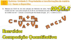 Qual a concentração final de uma mistura de soluções? | Ficha 10Q2.2 n.º 4 -  exercício 4