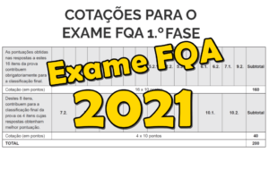 Classificação Exame FQA 2021